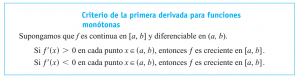 Criterio primera derivada