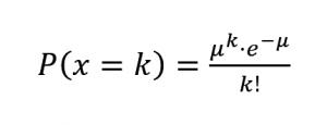 formula distribución poisson