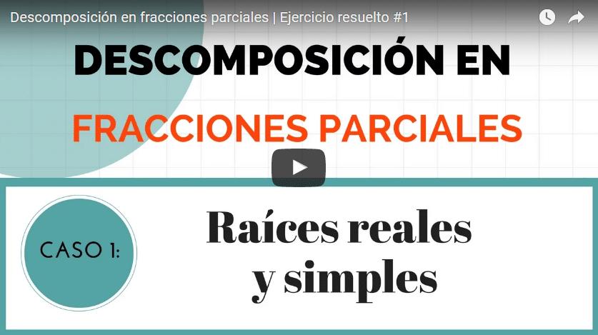 Descomposición en fracciones parciales